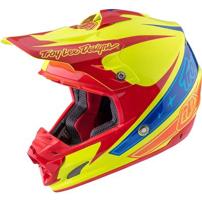 CASQUE TROY LEE DESIGNS SE3 CORSE 2 YELLOW