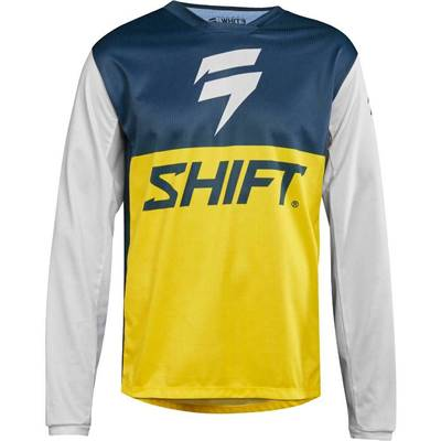 MAILLOT SHIFT WHIT3 LABEL GP NAVY JAUNE