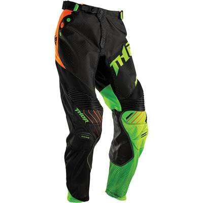 PANTALON THOR MX CORE AIR NOIR JAUNE FLUO