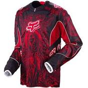 MAILLOT FOX RACING PLATINUM LATINESE ROUGE