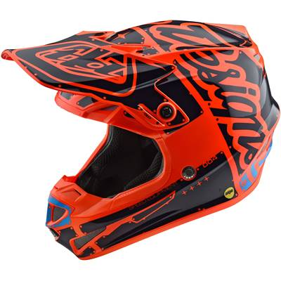 CASQUE TROY LEE DESIGNS SE4 POLYACRYLITE FACTORY ORANGE