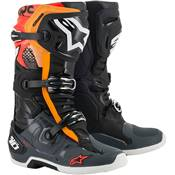 BOTTES ALPINESTARS TECH 10 NOIR GRIS ORANGE ROUGE