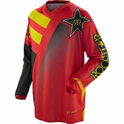 MAILLOT FOX RACING HC ROCKSTAR ROUGE