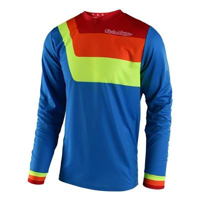MAILLOT TROY LEE DESIGN PRISMA BLEU