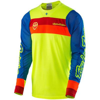 MAILLOT TROY LEE DESIGNS SE AIR CORSA JAUNE FLUO