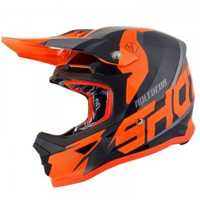 CASQUE SHOT FURIOUS KID ULTIMATE BLEU ORANGE
