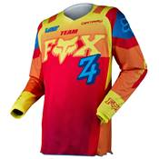 MAILLOT FOX RACING 180 IMPERIAL ROUGE JAUNE