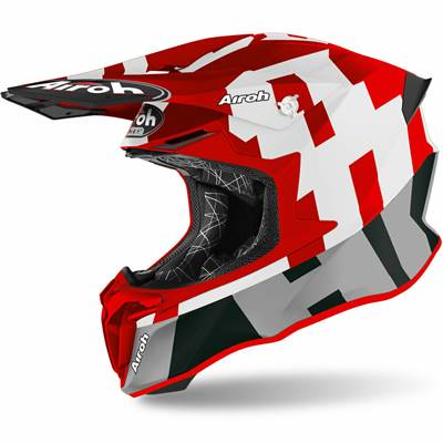 CASQUE AIROH TWIST 2,0 FRAME ROUGE MATT