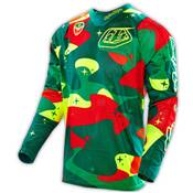 MAILLOT TROY LEE DESIGNS SE AIR COSMIC CAMO VERT JAUNE