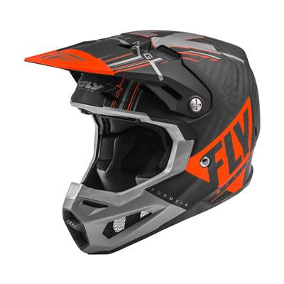 CASQUE FLY FORMULA VECTOR ORANGE GRIS NOIR