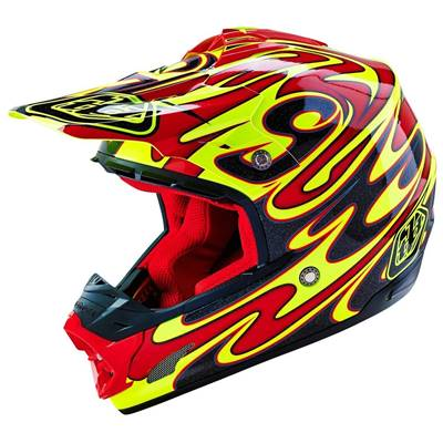 CASQUE TROY LEE DESIGNS SE3 REFLECTION JAUNE