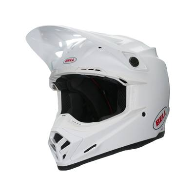 CASQUE BELL MOTO-9 SOLID BLANC