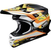 CASQUE SHOEI VFX-W TURMOIL TC-8 ORANGE NOIR