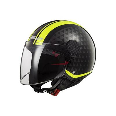 CASQUE LS2 OF558 SPHERE LUX CRUSH NOIR JAUNE