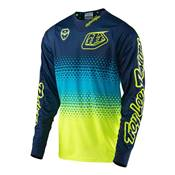 MAILLOT ENFANT TROY LEE DESIGNS STARBURST NAVY YELLOW
