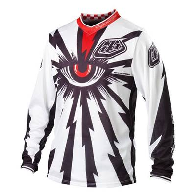 MAILLOT TROY LEE DESIGNS GP AIR CYCLOP BLANC