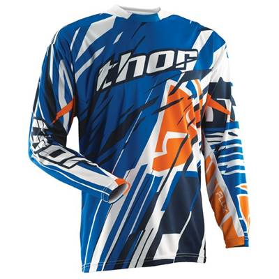 MAILLOT THOR FLUX SHRED BLEU