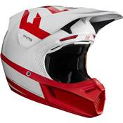 CASQUE FOX V3 PREEST BLANC ROUGE EDITION LIMITEE