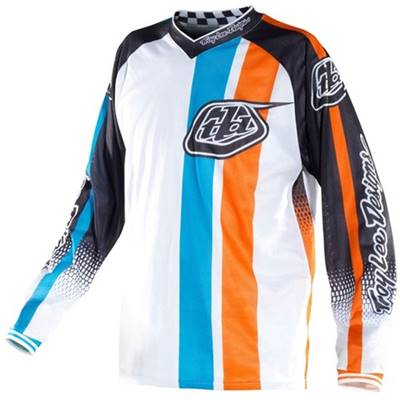 MAILLOT TROY LEE DESIGNS GP AIR MONACO BLANC