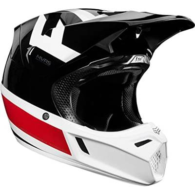 CASQUE FOX V3 PREEST NOIR ROUGE