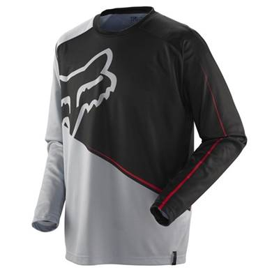MAILLOT FOX RACING NOMAD BIG BLOCK NOIR GRIS