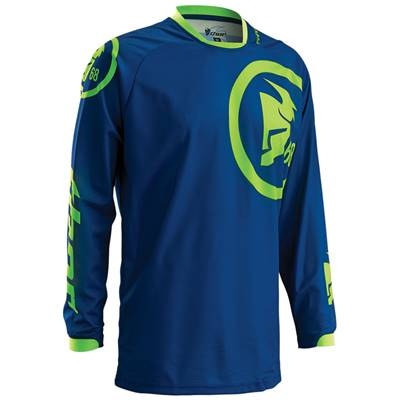 MAILLOT THOR MX PHASE GASKET NAVY LIME