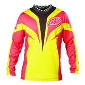 MAILLOT TROY LEE DESIGNS GP AIR MIRAGE JAUNE ROSE